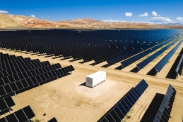An image of a solar farm in California that Avon Pension Fund has invested in.