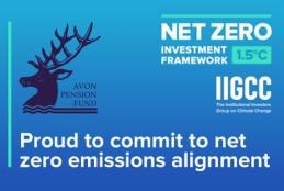Avon Pension Fund PAII Net Zero Asset Owner Commitment banner