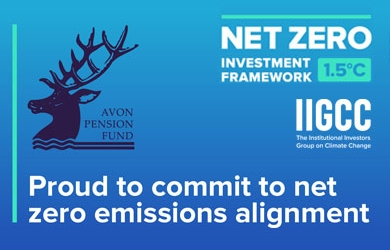 Avon Pension Fund PAII Net Zero Asset Owner Commitment banner